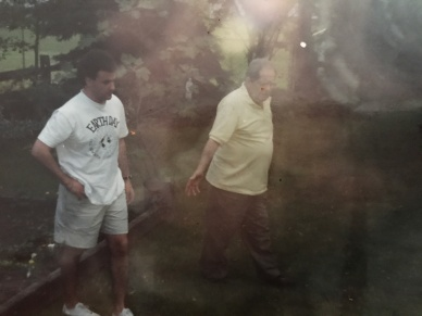 GrandpaFrank and I at 1844 garden in 1990